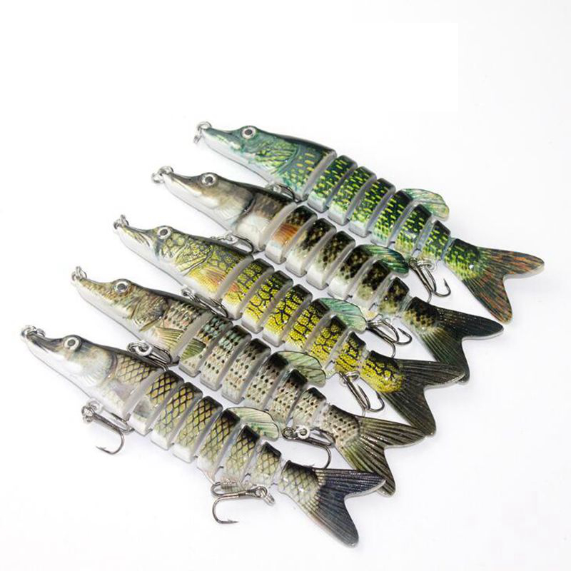 1PCS 12 5CM 20G Multi Jointed Fishing Lure Lifelike Artificial Bait Hard Bait Lure Accessories For Lake Sea Fishing in Fishing Lures from Sports Entertainment