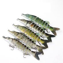 1PCS 12.5CM 20G Multi Jointed Fishing Lure Lifelike Artificial Bait Hard Accessories For Lake Sea