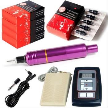 Professional Tattoo Machine Kit Sets tattoo pen gun machine  Power Supply 50pcs Needles cartridge pedal