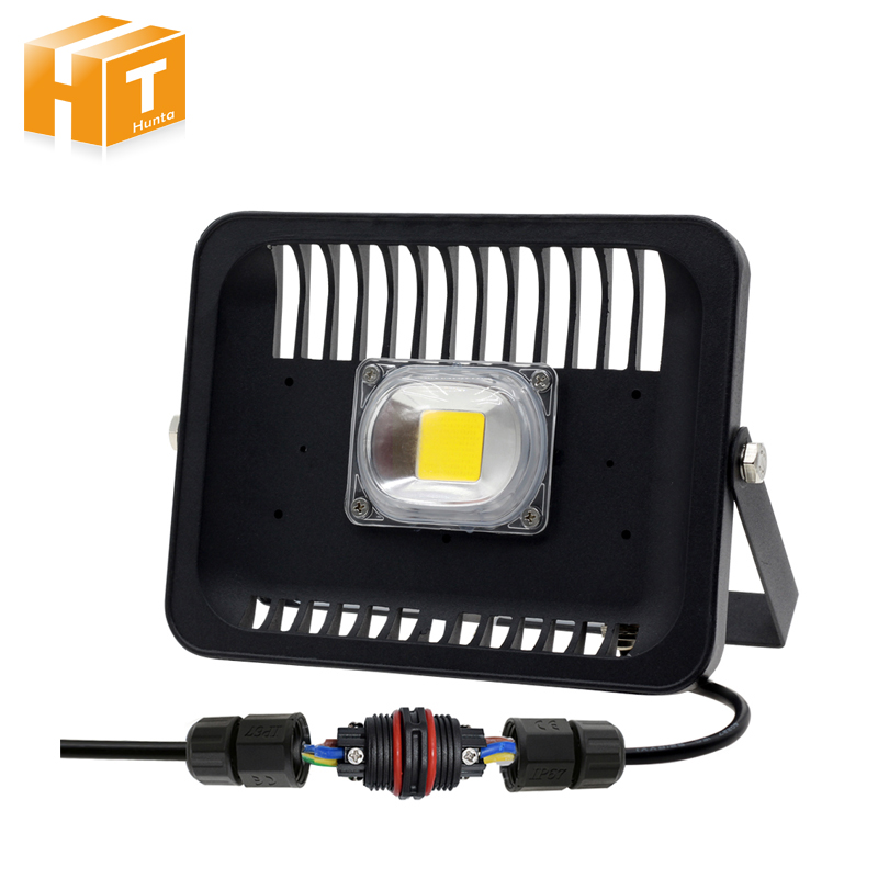 LED Floodlight 30W/50W/100W IP65 Waterproof Flood Light Outdoor Lighting With 3pin Waterproof Connector ultrathin led flood light 100w grey ac85 265v waterproof ip65 floodlight spotlight outdoor lighting freeshipping