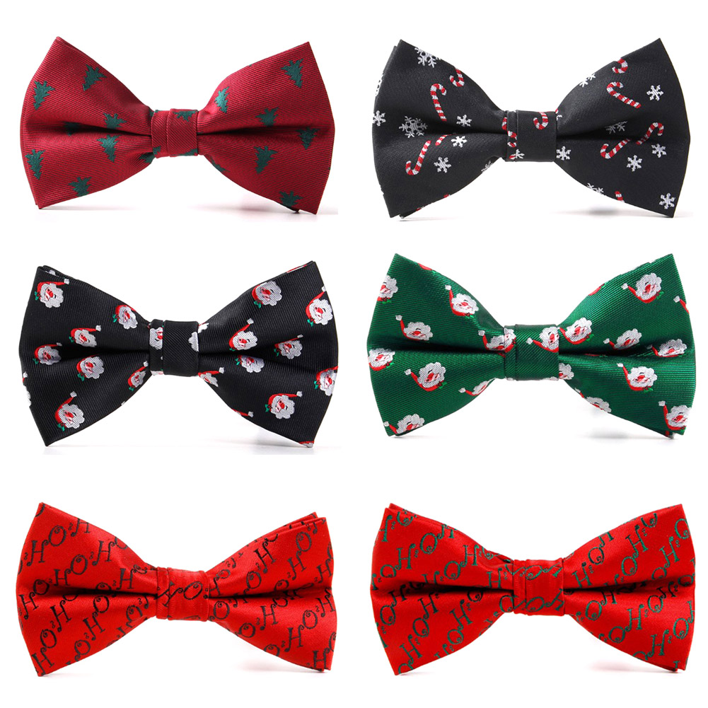2019 New Bow Ties For Men Christmas Tree Bowties For Men's Wedding Cravat Fashion Butterfly Tie Casual Bowknot Bowties Men Gifts