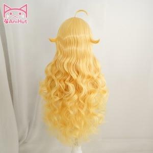 Image 3 - Peluca de pelo largo ondulado de Yang Xiao, color amarillo, resistente al calor, Cosplay, pelo sintético, peluca de Cosplay Yang Xiao Long