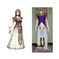 2016 The Legend of Zelda Cosplay Princess Zelda Cosplay Costume custom made in any size