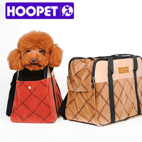 HOOPET Exclusive Design Fashion Portable Quilted Patterned Windproof Warm Pet Carrier Handbag Hot Pet Products