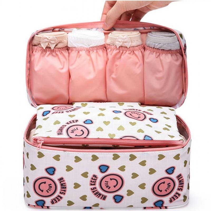 Multifunction Travel Cosmetic Bag Women Toiletries Underwear Organizer Makeup Bags Waterproof Female Storage Bra Make Up Case