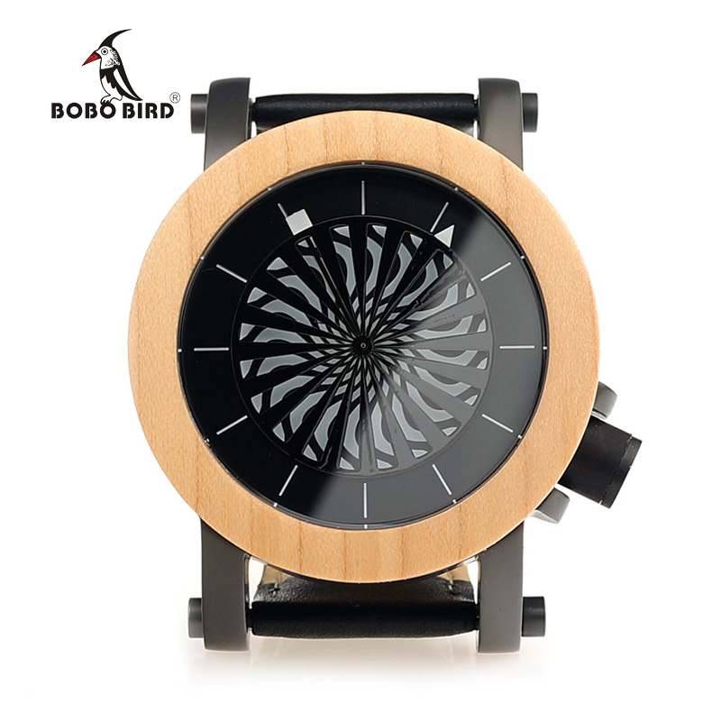 BOBO BIRD Mens Wooden Mechanical Watches TOP Luxury Handmade Wood Watch Leather Strap Wristwatches relogio masculino C-M07 bobo bird new luxury wooden watches men and women leather quartz wood wrist watch relogio masculino timepiece best gifts c p30