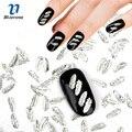 Blueness 1000 unids/pack pluma de plata de la aleación 8.5*3.5mm nail art strass 3d uñas encantos de la joyería diy belleza de uñas decoración pj612
