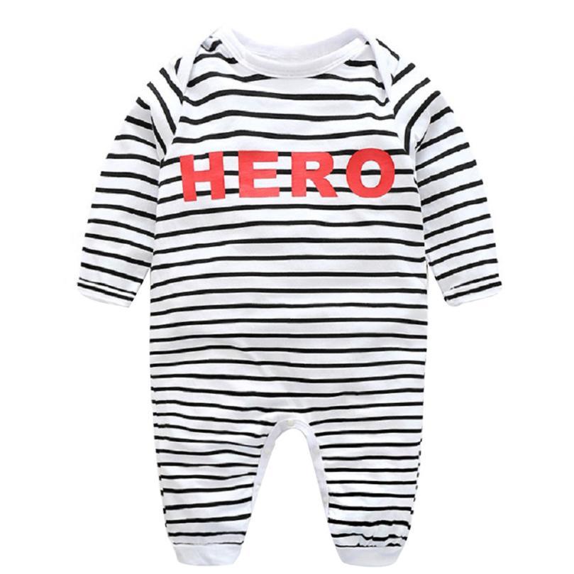 Letra rayas manga larga romper recién nacido bebé niña ropa de manga larga  body mono del bebé bebek Tulum Krystal 1704bbf5fa62