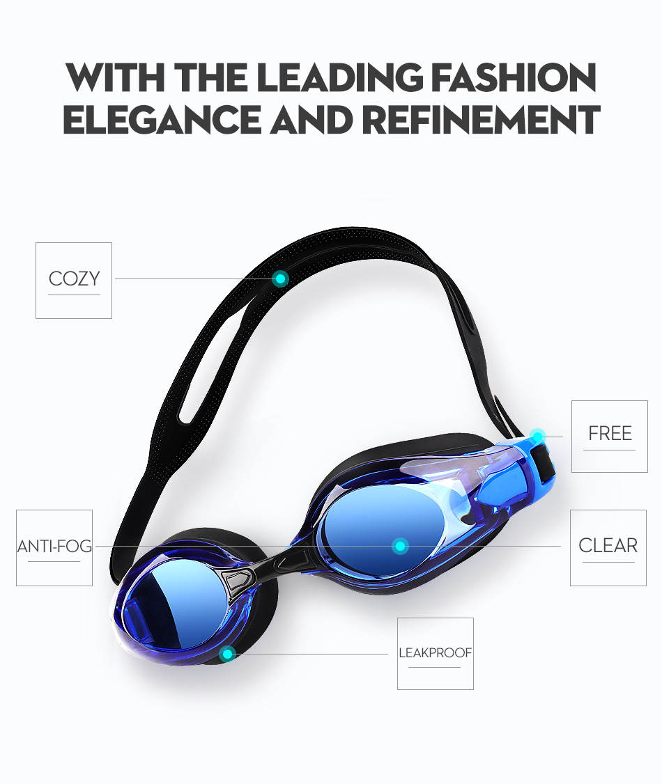 COPOZZ Myopia Pro Diopter Swimming Goggles 0 -1.5 to -8 With Double Anti Fog UV Protection 3