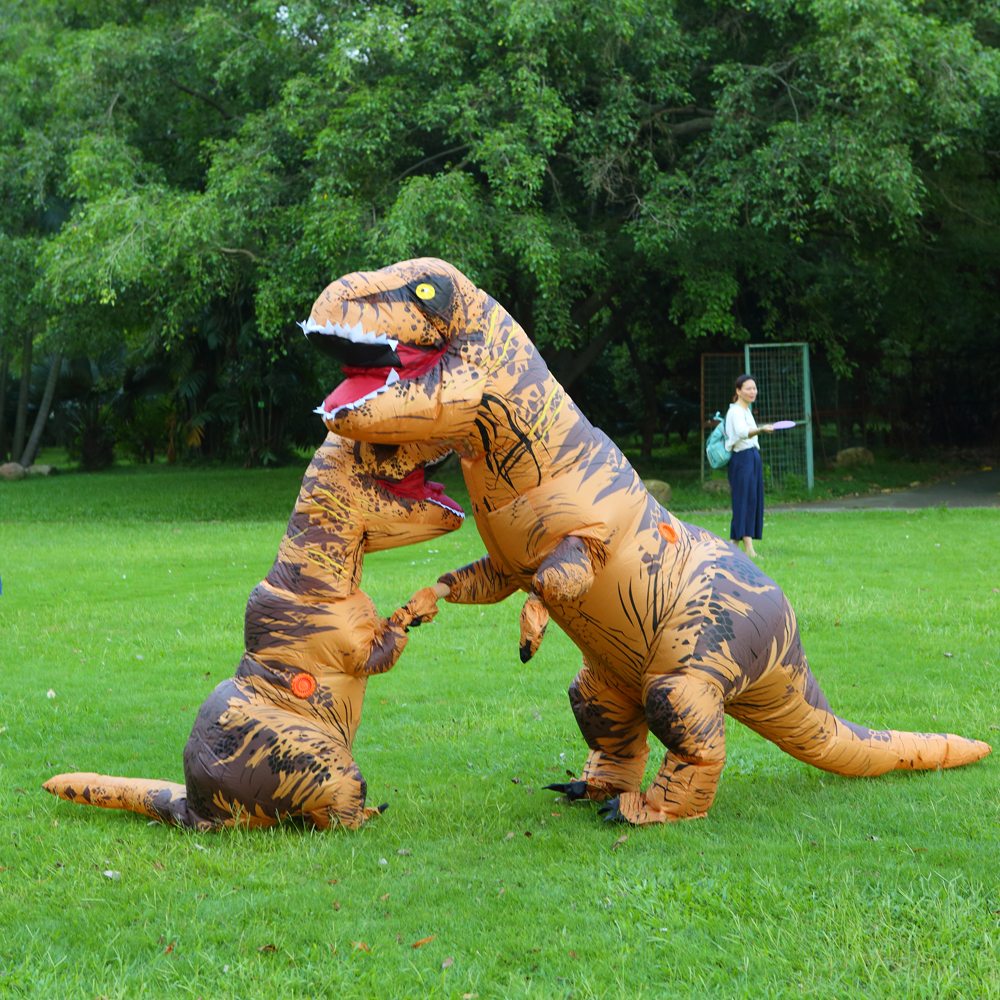 2019 New Inflatable Dinosaur Costume Fantasia Adult Halloween Cosplay Costume For Adult Disfraces Adults T-REX Fan Operated
