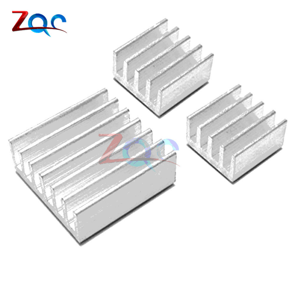 2Set/lot Adhesive Raspberry Pi 3 Heatsink Cooler Pure Aluminum Heat Sink Set Kit Radiator for Cooling Raspberry Pi 2 B 10pcs lot ultra small gvoove pure copper pure for ram memory ic chip heat sink 7 7 4mm electronic radiator 3m468mp thermal