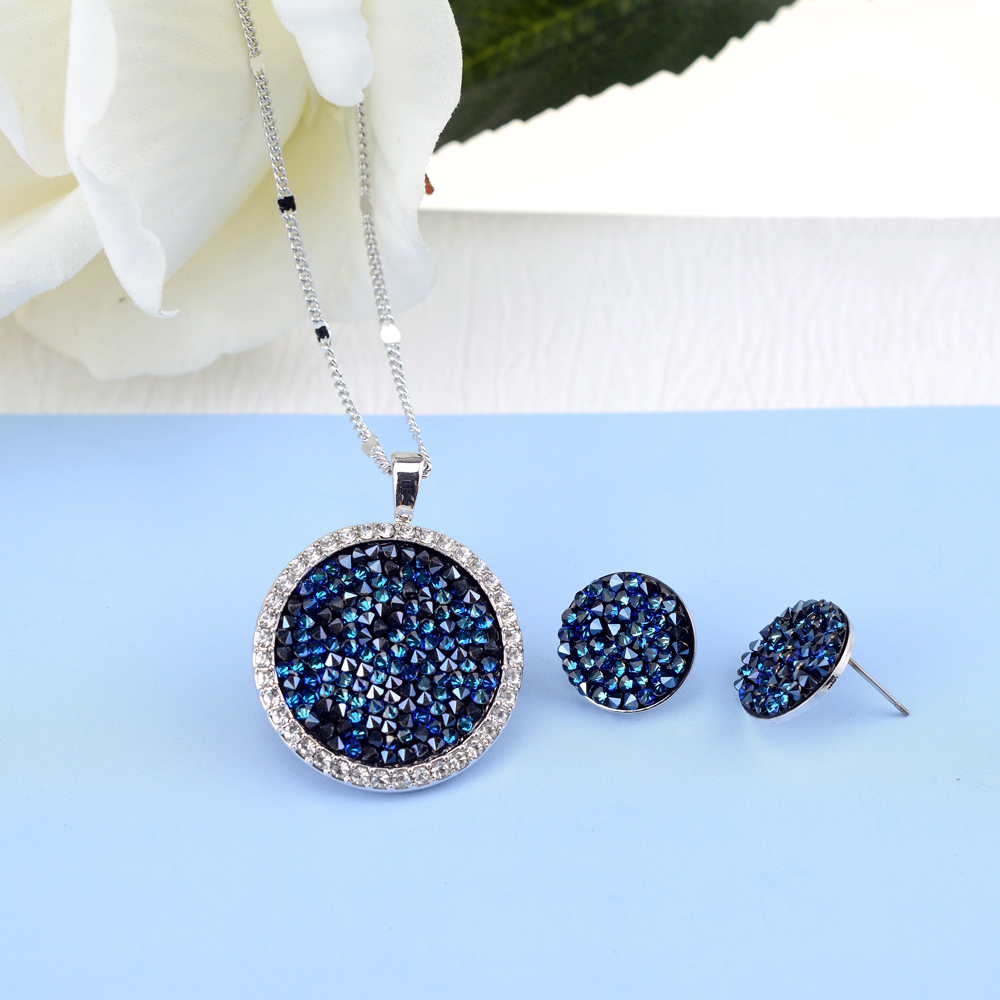 BAFFIN Original Crystals From Swarovski Pave Jewelry Sets Round Pendant Necklace Maxi Stud Earrings Luxury Accessories For Women baffin crystals pave jewelry sets round pendant necklace maxi rings luxury accessories for women made with swarovski elements