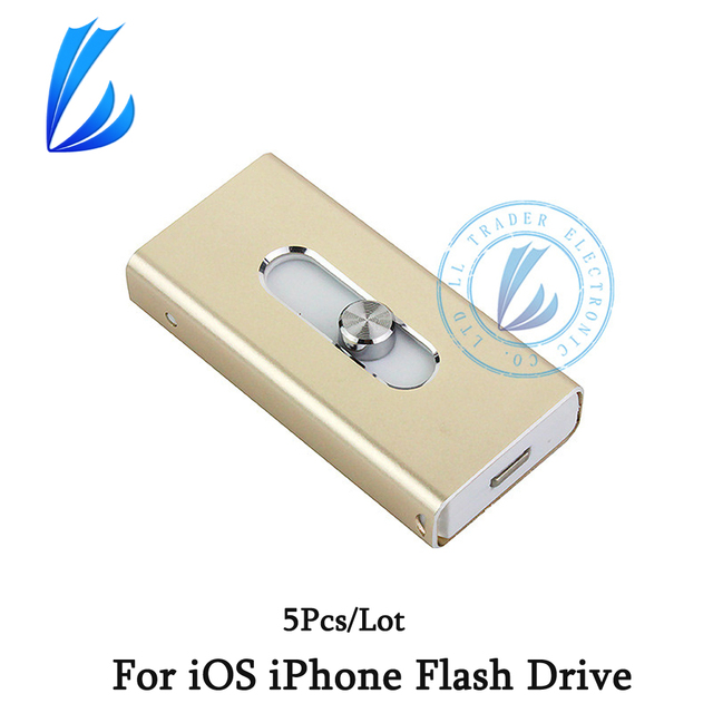 COMERCIANTE LL 5 Unids/lote 64 GB 32 GB Memory Stick USB de Almacenamiento Flash i-flash unidad para ios iphone usb flash drive otg para android ipad PC