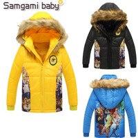 Samgami ребенок для 3-10 лет Обувь для мальчиков верхняя одежда 2017 Гадкий Детская куртка для мальчиков на зиму детская одежда с капюшоном для мал...