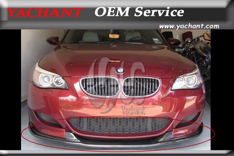 Voiture-Styling Accessoires Auto Voiture De Fiber De Carbone Pare-chocs Avant Lip Fit Pour BMW E60 M5 HM Style Lèvre Avant
