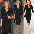 Womens Celeb V Neck Business Work Office Smart Ladies Slit Sexy Pencil Dress Business dress