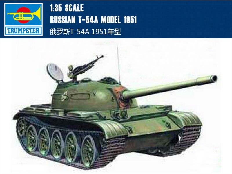 Trumpet 00340 1:35 Russian T-54 Medium Tank 1951 Assembly Model