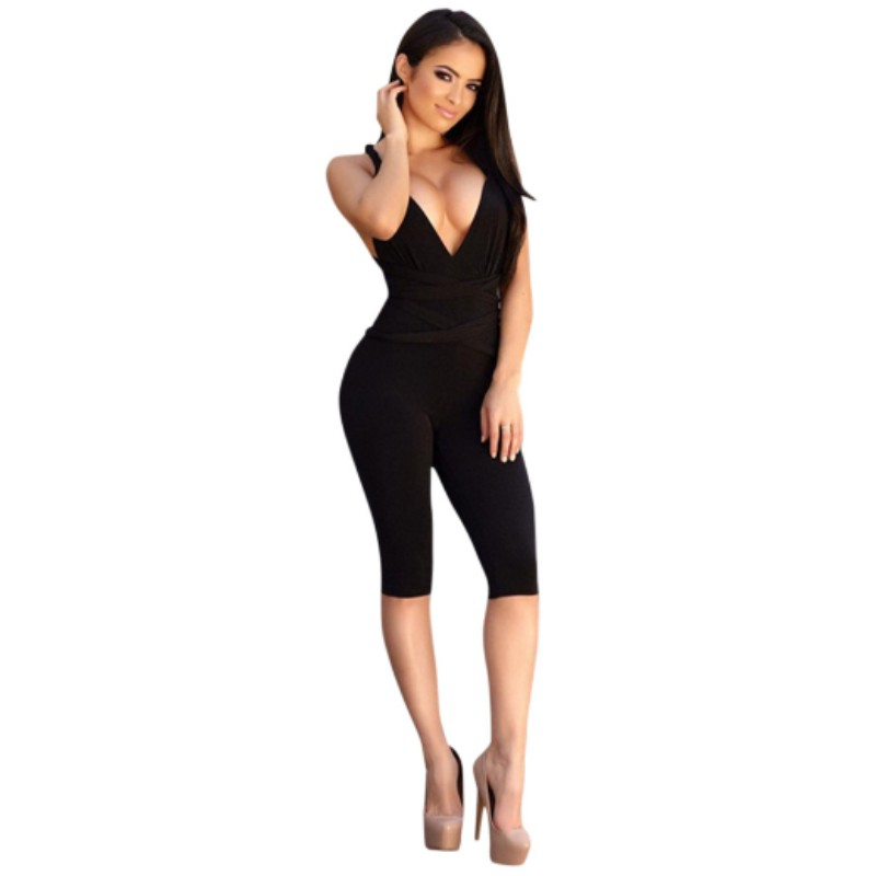 Popular Womens Black One Piece Fitted Jumpsuit-Buy Cheap Womens ...