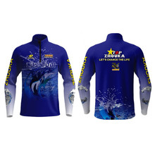 Marshal Men Children Jersey Fishing Clothing Long Sleeve Uv Protection Quick Dry Shirt With Fish Pattern Tops