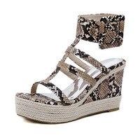 Snake Style Platform Sandals Women 2019 Summer Shoes For Women Fashion Wedges Sandals Heel Ladies Gladiator Sandals