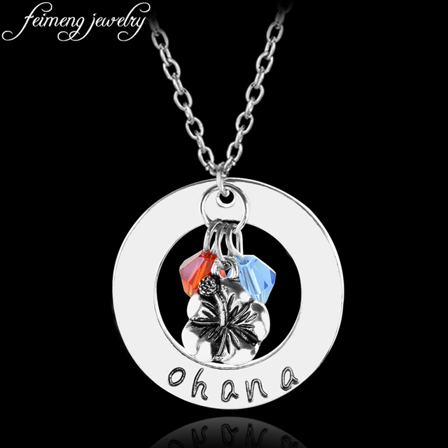 Beauty and the beast necklace charm flower ohana handmade pendant beauty and the beast necklace charm flower ohana handmade pendant necklace for women fashion jewelry accessories mozeypictures Gallery