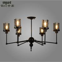 A1 Industrial designer oft retro creative lighting the A1 village dining room pendant light small iron staircase Iron Light GY79