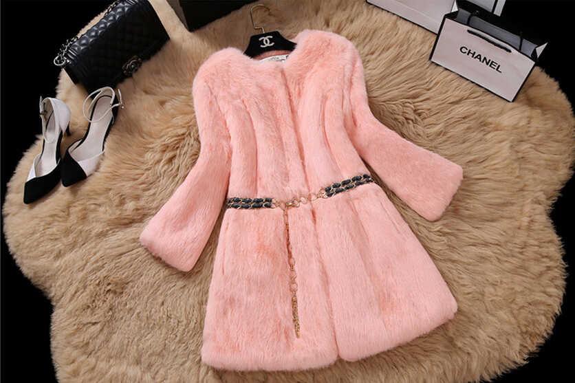 2019 nova pele cheia de coelho real casaco pele longa tamanho grande personalizado multi cores 100% verdadeira pele inteira coelho casaco de pele kfp823