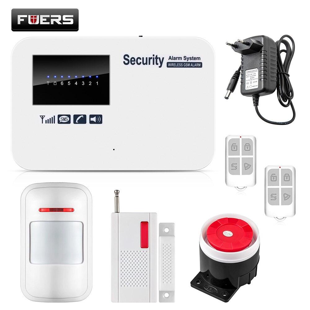bilder für Englisch Russisch Spanisch Version Wireless Home Security GSM Alarmanlage mit Relais IOS Android APP Steuer Intercom Auto Zifferblatt