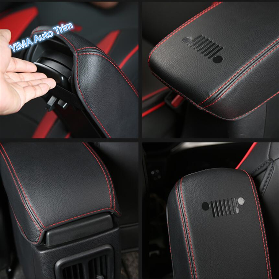 Lapetus Auto Styling Middle Armrest Storage Box Holster Protection Pad Mat Cover Trim Fit For Jeep Compass 2017 2018 2019 in Interior Mouldings from Automobiles Motorcycles