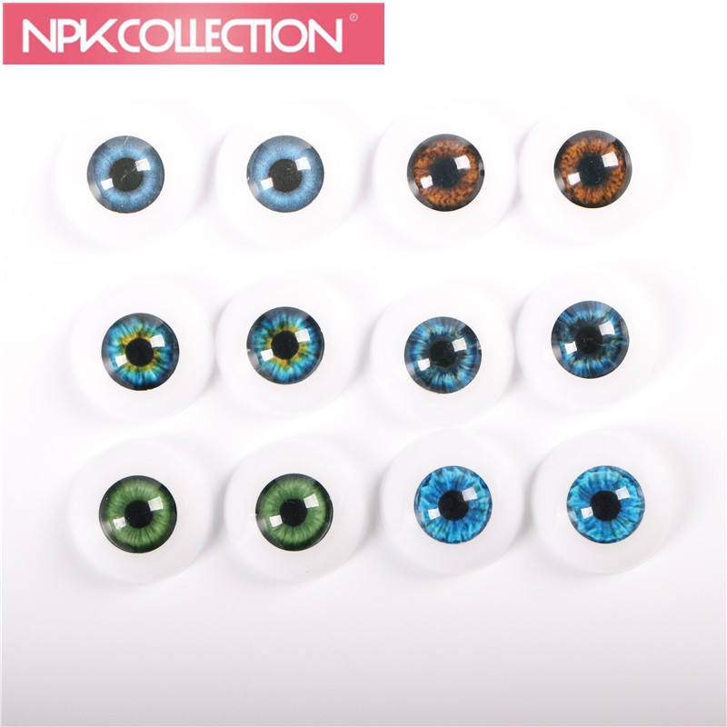 2 pairs of Safety Eyes Arcylic 22 mm Doll Eyeball Fit for 22 Inches Reborn Baby Doll Kits Toys 6 Different Colors Can Be Chosen