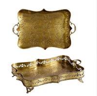 Бесплатная доставка высокого уровня европейский стиль декоративные медные лоток роскошная вилла украшения ремесел творческой домашней об