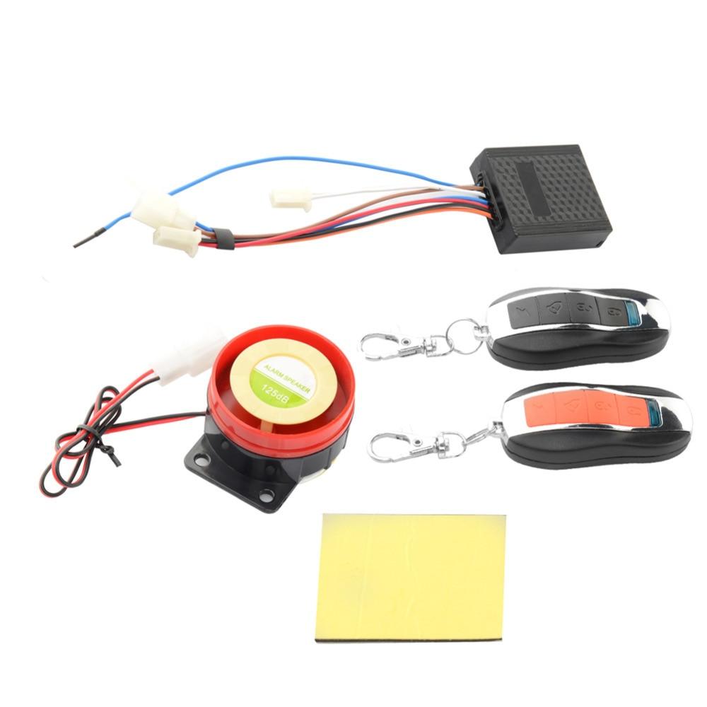 Prix pour Imperméable à l'eau De Voiture Moto Système D'alarme Anti-vol de Sécurité Télécommande pour Auto Moto Haute Qualité