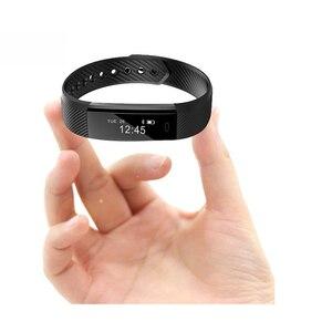 Image 3 - ID115 умный Браслет, счетчик шагов, фитнес SmartBand Вибрационный браслет будильник pk ID107 fit bit miband2 часы с сердцем