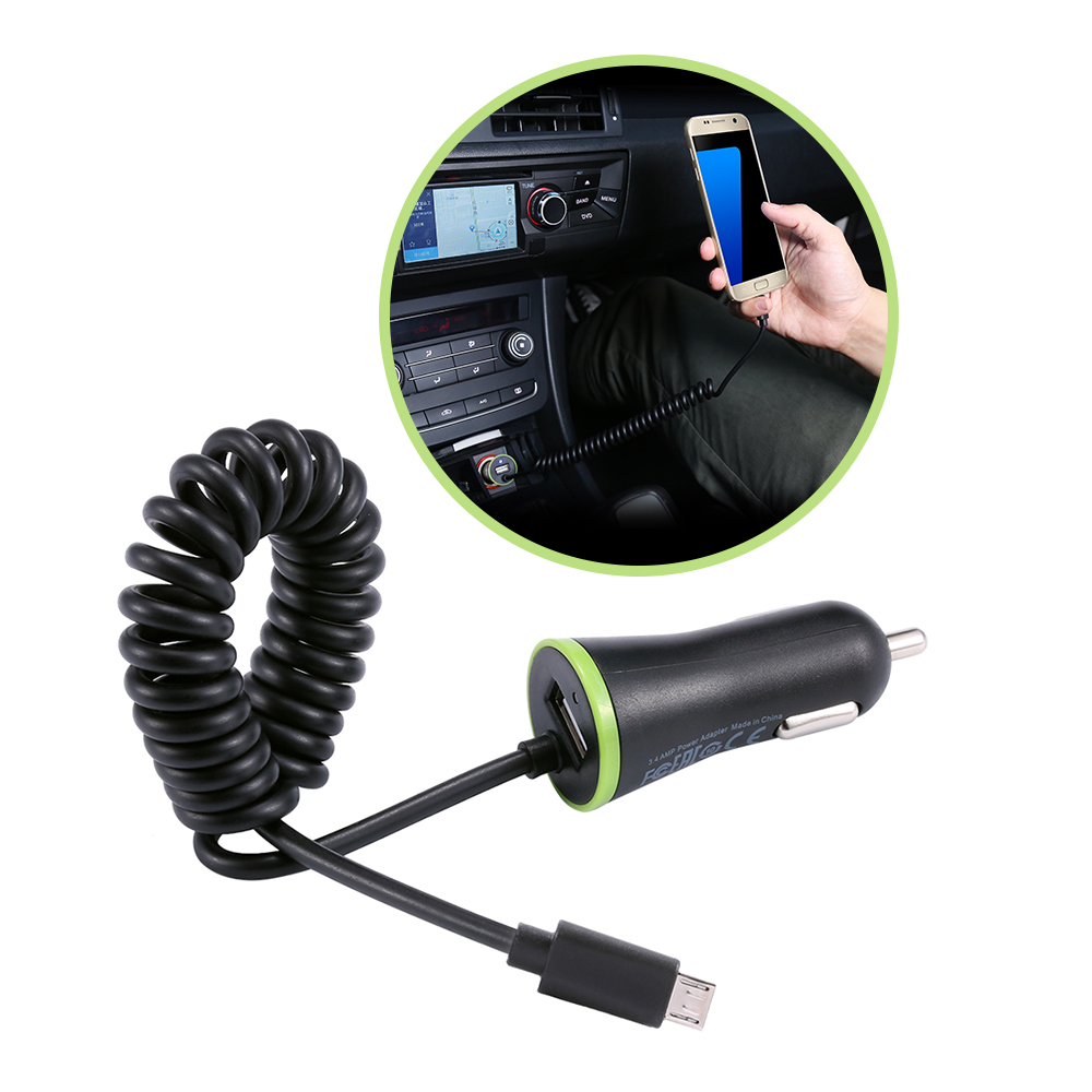 RAXFLY Mini USB Car Charger Micro USB Mobile Phone Car-Charger For Samsung S8 Plus S7 iPhone 6 7 Xiaomi Huawei Car Phone Charger