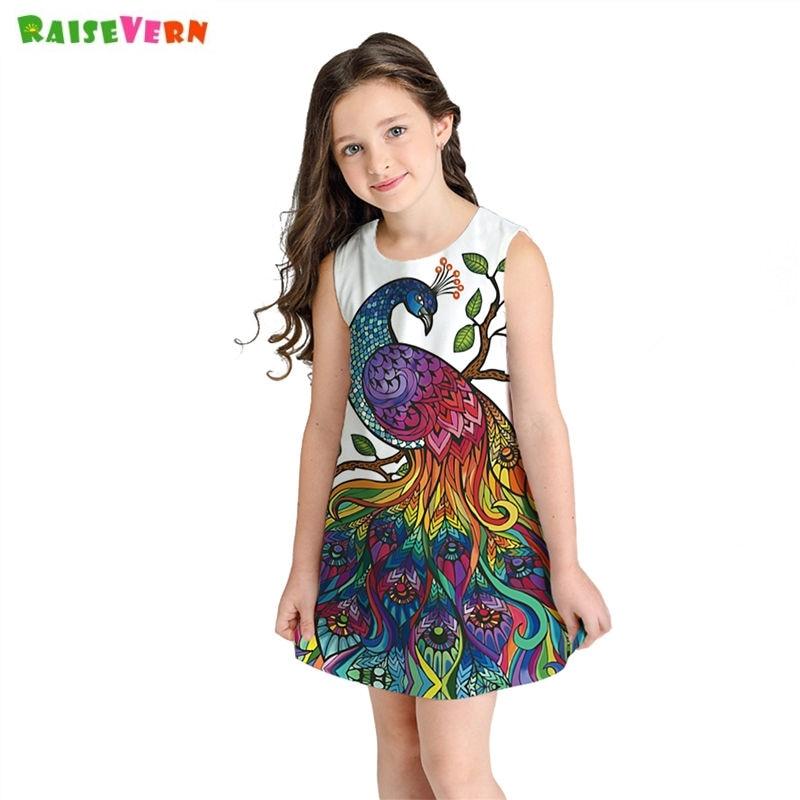 US Princess Kids Baby Girls Dress Pumpkin Girl Print Dress Party Casual Dresses