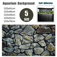 Painting-Decorations Poster Aquarium Background Rock-Stone Fish-Tank Wall-Picture Landscaping