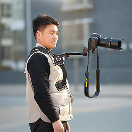 New DV DC Camcorders Hand Free Video Cameras Shoulder Tripod Support Pad For DSLR Camera