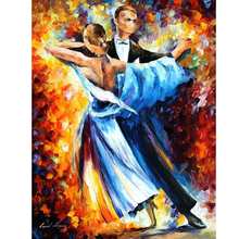 Hand Painted Dance artwork Abstract Landscape Knife Modern Art Oil Painting Canvas Art Living Room hallway Artwork Fine Art