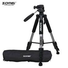 ZOMEI Q111 Tripod hafif taşınabilir seyahat alüminyum alaşım kamera Tripod için telefon için Canon Nikon Sony DSLR Smartphone