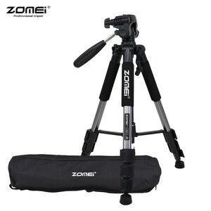 Image 1 - ZOMEI Q111 ترايبود خفيفة الوزن المحمولة السفر سبائك الألومنيوم كاميرا ترايبود للهاتف لكانون نيكون سوني DSLR الهاتف الذكي