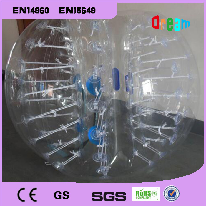 Gratis forsendelse 1.5m TPU kvalitet Bubble Soccer Body Zorb Bumper Ball Human Hamster Ball Bubble Fodbold Bubble Suit Loopy Ball