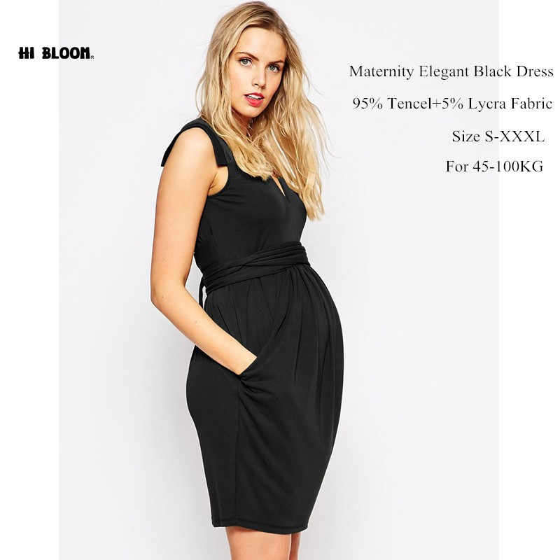 e774814446d9d ... V-Neck Formal Evening Gown For Pregnant Women Elegant Sashes Maternity  Prom Dresses Office Lady ...