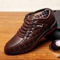 [ZNPNXNShoes] Novo 2015 homens sapatos casuais rendas até Marrom Moda Homens sapatos zapatillas Zapatos hombre