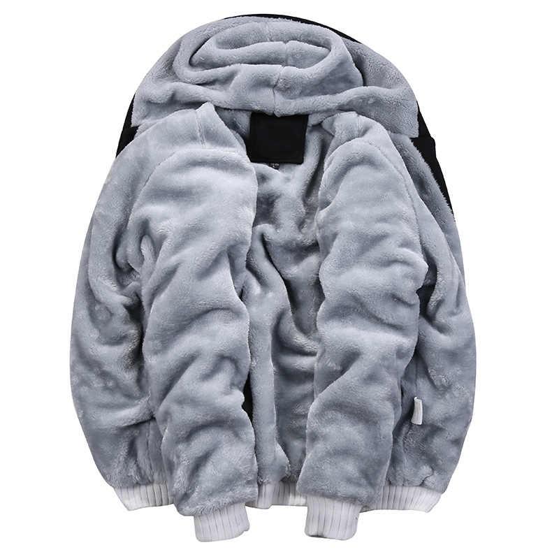 Зимние меховые флисовые толстовки для мужчин куртка мужская M-4XL спортивный костюм мужская повседневная куртка + штаны 2 шт мужские худи толстовки Мужская одежда