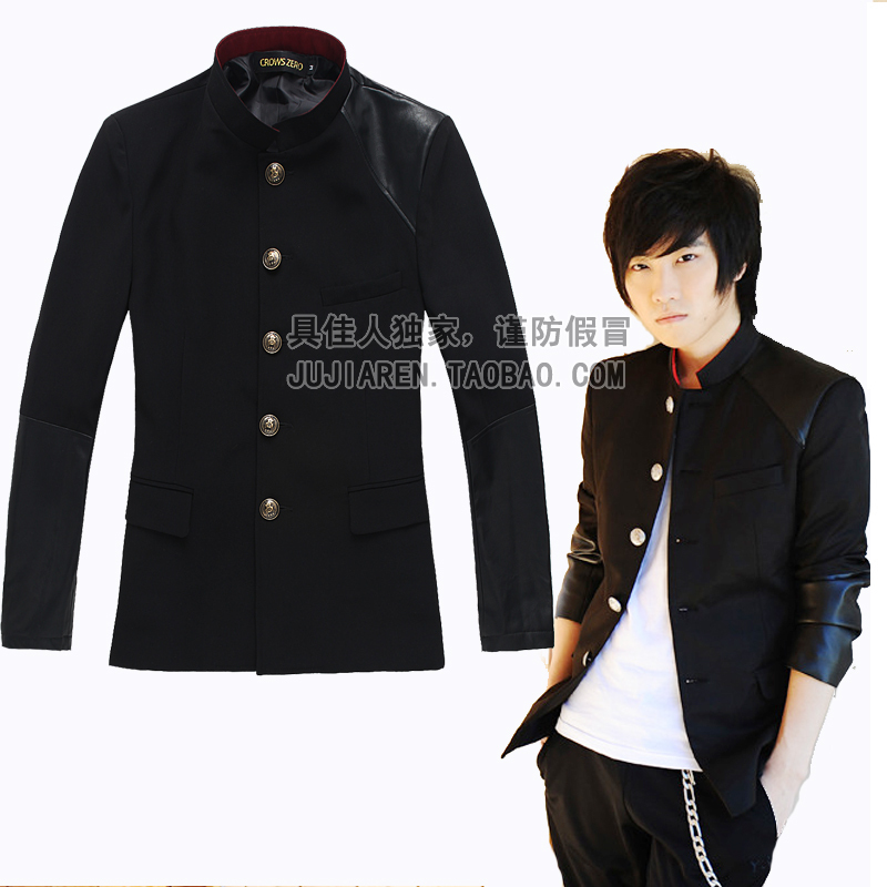 Free Shipping New Fashion Japanese Student School Uniform Male Men's Boy Slim Blazer Chinese Tunic Suit Jacket Top Korean OnSale
