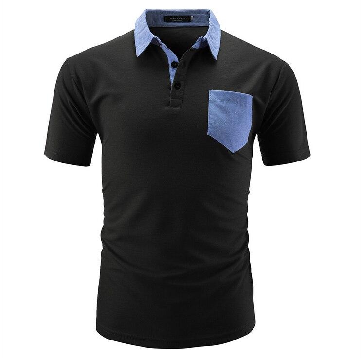 1536 Sommer Neue Herren Kurzarm Polos Shirts Casual Baumwolle Einfarbig Revers Polos Shirts Mode Herren Schlank Tops Um Jeden Preis