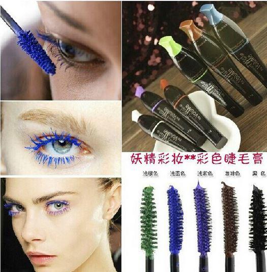Синий коричневый фиолетовый Цвет Curl Тушь для ресниц rimel 3D Волокно ресницы Тушь для ресниц макияж maquiagem чернила для ресницы m746