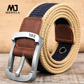 2017 wholesale Real Solid brand Belts for Men Cinto Feminino Men's Fashionable Pin Buckle Canvas Strap Casual Belt  Brand