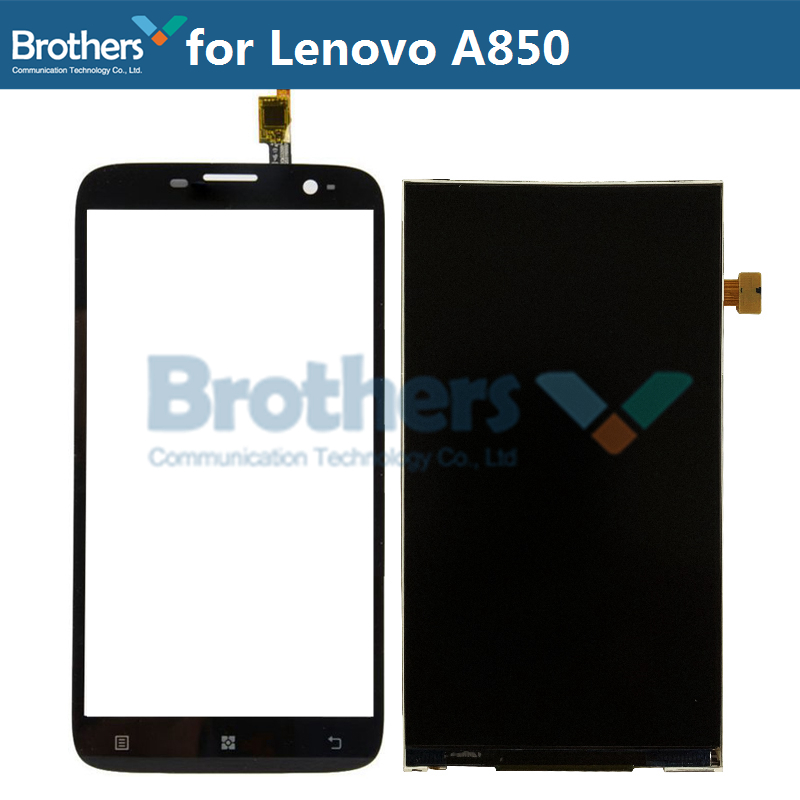1Set For <font><b>Lenovo</b></font> <font><b>A850</b></font> <font><b>LCD</b></font> Display + Touch Dcreen Digitizer For <font><b>Lenovo</b></font> <font><b>A850</b></font> <font><b>LCD</b></font> Screen Original Phone Replacement Test Working Top image