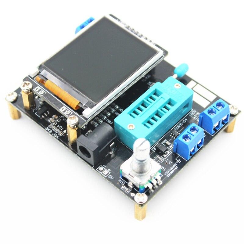 Lcd gm328a transistor tester capacitância esr tensão medidor de  freqüência pwm onda quadrada gerador de sinal smt solda    -